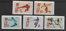 BULGARIA , 1963 , BALKAN GAMES , SPORTS , SET OF 5 STAMPS  , MNH , CV$4.60
