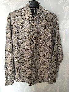 Mens Vintage Hilfiger Paisley Shirt Small Made In Italy