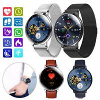 Damen Herren Smartwatch Pulsuhr Blutdruck Uhr für iOS Android Huawei Samsung LG