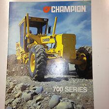 Champion 700 Series Road Grader Sales Brochure & specifications.