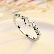 Tiny Heart Adjustable Ring 925 Sterling Silver Womens Girls Jewellery Gift UK