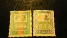 10.000 LIRE ALTO VALORE REP. ITAL. 30 FRANCOBOLLI + 1 MAZZETTA DEL 3000 L. USATI