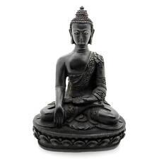"BUDDHA STATUE 7.5"" Buddhism Dark Resin Meditate HIGH QUALITY Buddhist Shakyamuni"