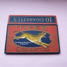 ANTIQUE TIGER CIGARETTE CARD PACKET IMPERIAL TOBACCO CO INDIA PACK HULL SLEEVE