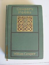 Cowper's Poems William Cowper early 1900 edition