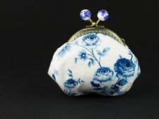 Handmade Japanese vintage porcelain style cotton coin purse collectable #0134