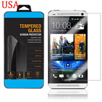 PREMIUM REAL ULTRA CLEAR TEMPER GLASS SCREEN PROTECTOR HTC ONE M7 USA