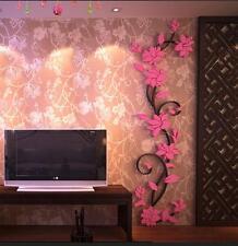 3D Butterfly Flower Fairy Floral Girl Wall Sticker Home Decor Decals Vinyl Art