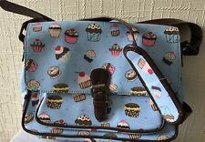Ladies LYDC Blue Cupcake Print Satchel Bag