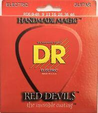 DR RDE-9/46 Red Devils Coated Red Electric Guitar Strings gauges 9-46