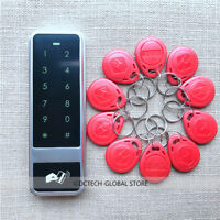 Waterproof Touch 125KHZ RFID Card+Password Door Access Control Keypad+10 Cards
