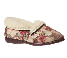Ladies Slippers Grosby Dianna Floral Slipper Available Size 6-11 Woolly New