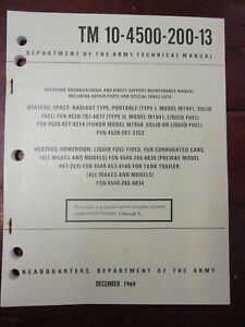Space & Immersion Heaters Text TM 10-4500-200-13 | Dept of the Army 1969