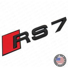 ABS Nameplate Audi RS7 Matte Black Emblem 3D Trunk Logo Sport Badge Decoration