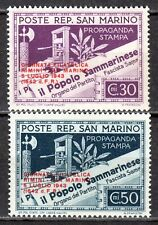 San Marino - 1943 Stamp expo Rimini / Stamp Day -  Mi. 269-70 MNH