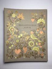 Vintage Thoughtfulness Album Hallmark Card Holder Book Occasion Gold Detail
