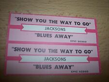"2 Michael Jacksons Show You The Way To Jukebox Title Strips CD 7"" 45RPM Records"