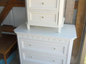 Shabby Chic Dresser Furniture Set 2 pc Bedroom Dressers Combo Simply Shabby Chic