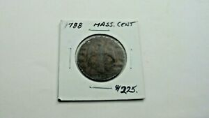 1788 Masachutsetts Cent Colonial - No Reserve