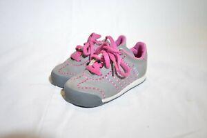 Adidas SAMOA Girls Toddlers ORTOLITE Size 6K Gray and Pink