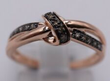 Ladies 10k Rose Gold & Champagne Diamond Ring .10ctw