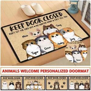 Personalized Cat Welcome Doormat For Door , Kitchen , Floor , Living Room