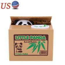 Automatic Panda Money Box Coin Bank Stealing Coins Cents Piggy Bank Saving Box
