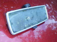 silver bezel style rear view mirror,real glass,black back,glue-style,day/nite