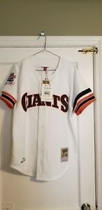100% Authentic Mitchell & Ness Will Clark 1989 Giants World Series Jersey Sz 40