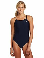 TYR Sport Women's Solid Diamondback Swimsuit Navy Size 34 4394