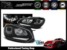FEUX AVANT PHARES LPVWG3 VW GOLF 6 2008-2010 2011 2012 DAYLIGHT NOIR TRU DRL
