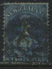 New Zealand QV Chalon Head 1864 2d blue used