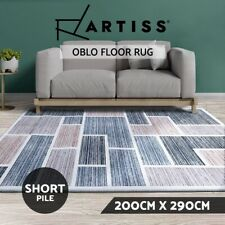 Artiss Floor Rugs 200 x 290 Bedroom Rug Large Modern Carpet Short Pile Soft Grey
