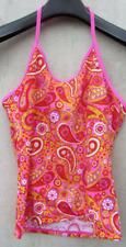 Lands End Orange/Pink/Yellow 14+ Floral Tankini Top Halter Flower Girls