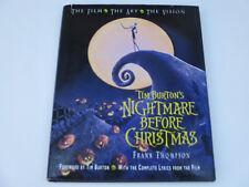 Tim Burton's Nightmare Before Christmas Concept Art History Vision Book 1993