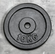 """10Kg Weight Disc, Cast Iron, 1"""" clearance hole, Plate for 1"""" Bars"""