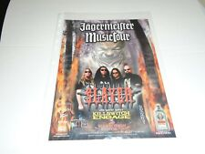 SLAYER - KILLSWITCH ENGAGE - MAGAZINE ADVERT CLIPPING - 2004