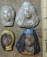 AFRICAN TRIBAL PUSH MOLDs lot FROM ORIGINAL CARVINGs by lori barbee polymer clay
