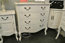 White Room Distressed Five Drawer Chest / Chest of Drawers / 5 / 2/3