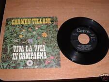 Vinyl   vinile : CARMEN VILLANI - VIVA LA VITA IN CAMPAGNA