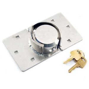 NEW VAN LOCK GARDEN SHED PADLOCK 73MM SECURITY PADLOCK HASP SET CHROME PLATED