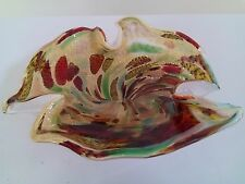 Tutti Frutti Murano Art Glass Bowl gold adventurine AVeM folded animal print 50'