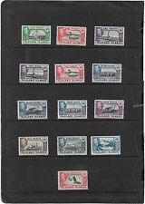 FALKLAND ISLANDS 1938-50 PICTORIAL SHORT SET 13 VALUES  LIGHTLY MOUNTED MINT