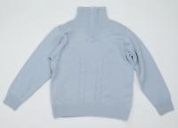 Swallow Golf Womens Size 12 Merino Wool Blend Blue Zip Jumper (Regular)
