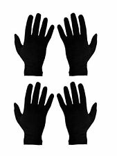 Unisex Double Layer Cotton Hand Gloves Black Free Size Set of 2 Pack of 1