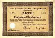KSB Klein Schanzlin Becker1928 Frankenthal Pegnitz 1000 RM AMAG Hilpert Nürnberg