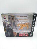 "The Walking Dead EZEKIEL and SHIVA Tiger 5"" Action Figure McFarlane 2014 Bloody"
