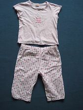 3/4 length shorts and short sleeve top nightwear pyjamas set age 5-6 Matalan