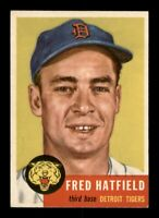 1953 Topps Set Break # 163 Fred Hatfield NM *OBGcards*