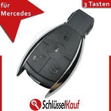 Mercedes Benz 3 Tasten Autoschlüssel Ersatz Gehäuse W203 W204 W211 Chrom Key Neu